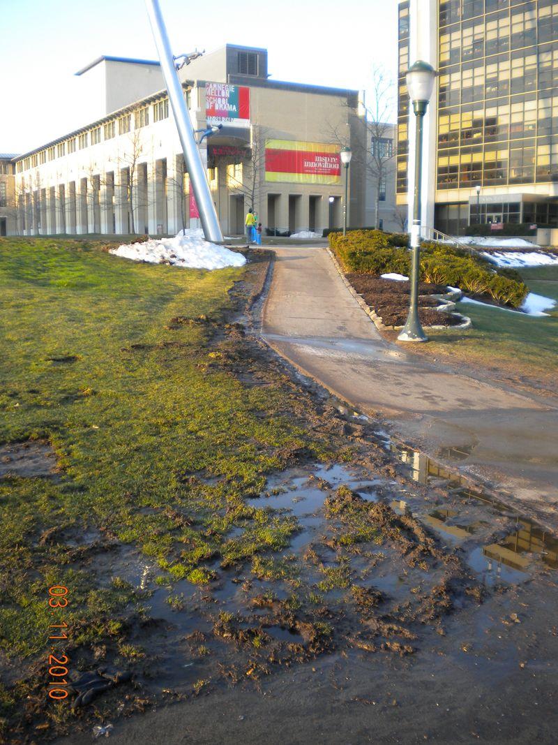 CMU walkway March 11